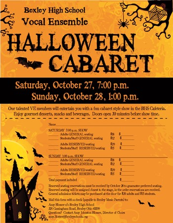 Bexley High School Vocal Ensemble Halloween Cabaret