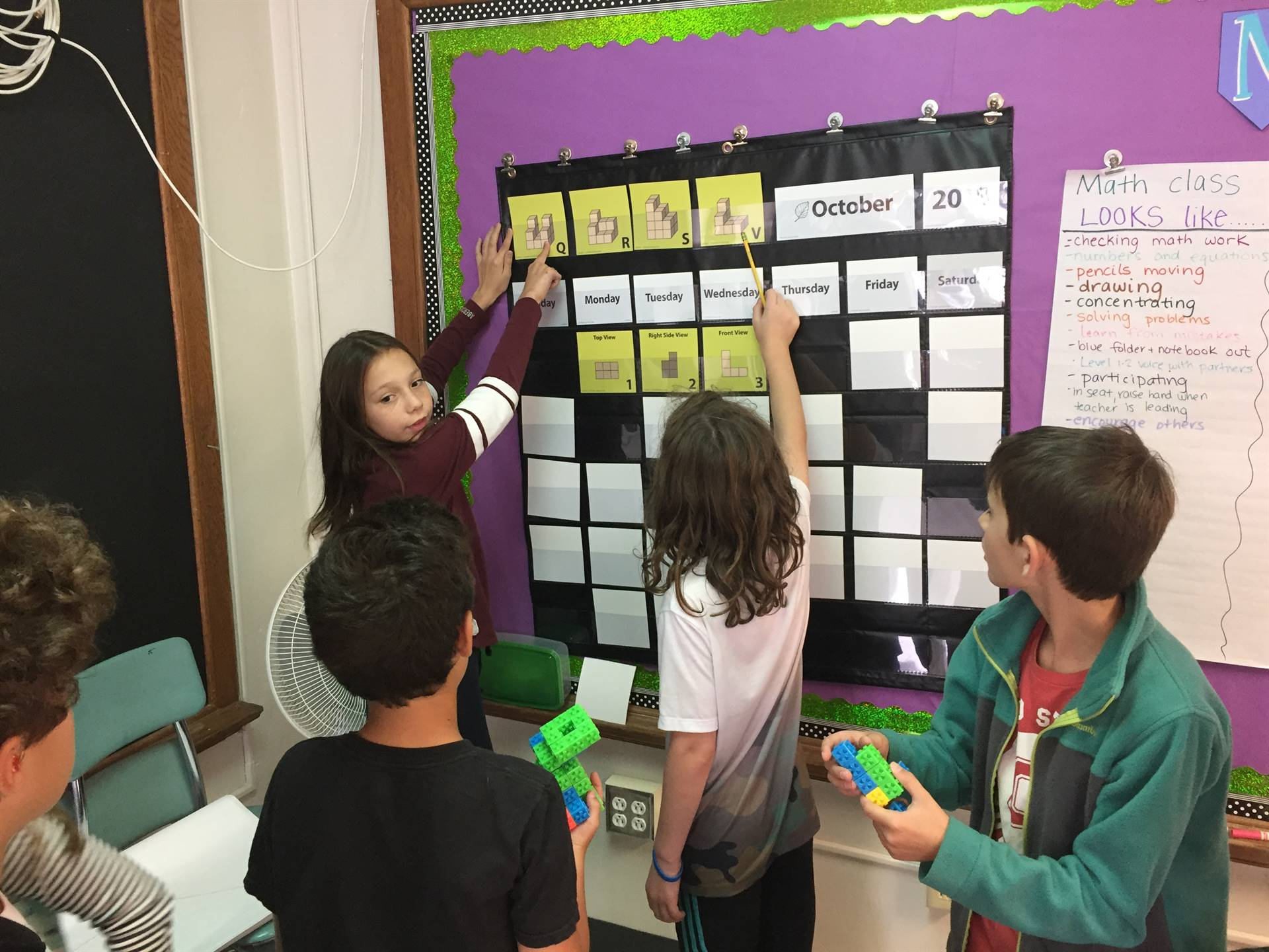 5th graders practice visualization