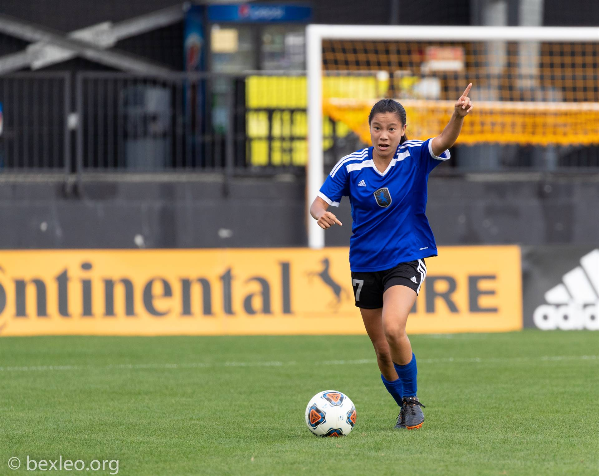 Junior Julia Miracle and the girls soccer team play @ Crew Stadium