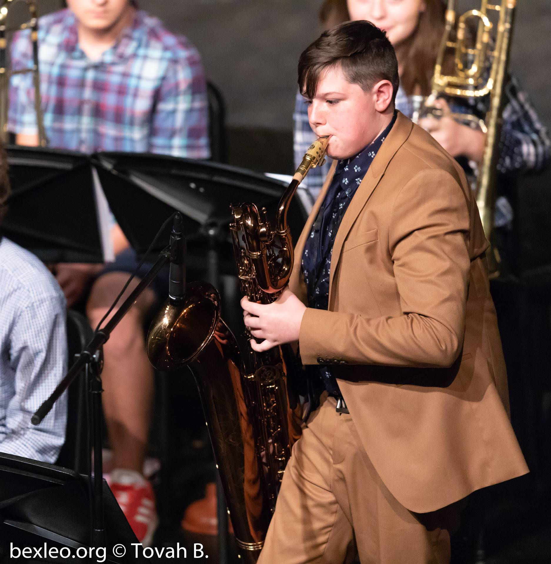 Sax player performs in the Jazz Band Fall Concert