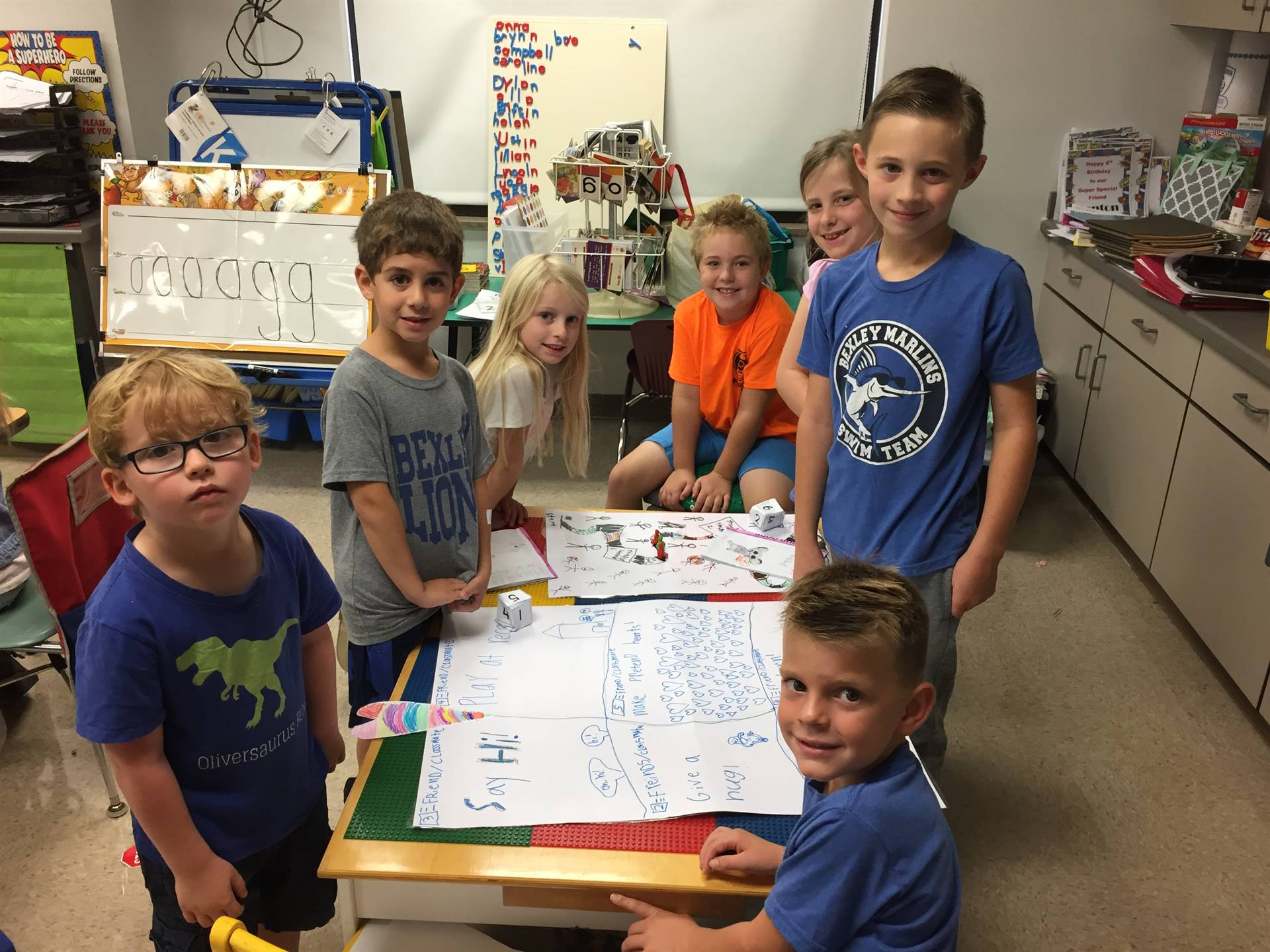 2nd graders share their new knowledge about health and safety with their friends in kindergarten.