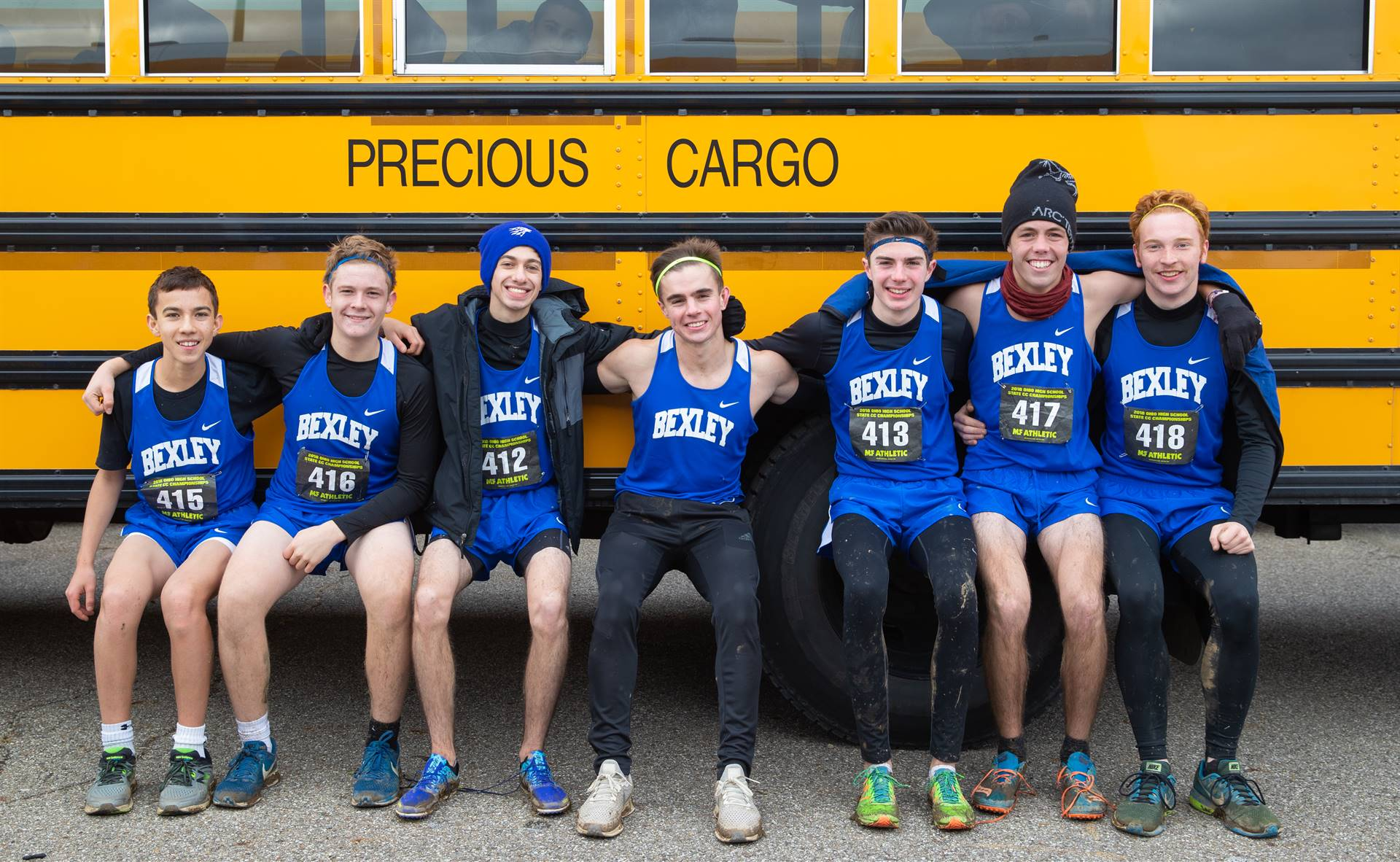 Pic of The Boys Cross Country Team who finished 18th at States!
