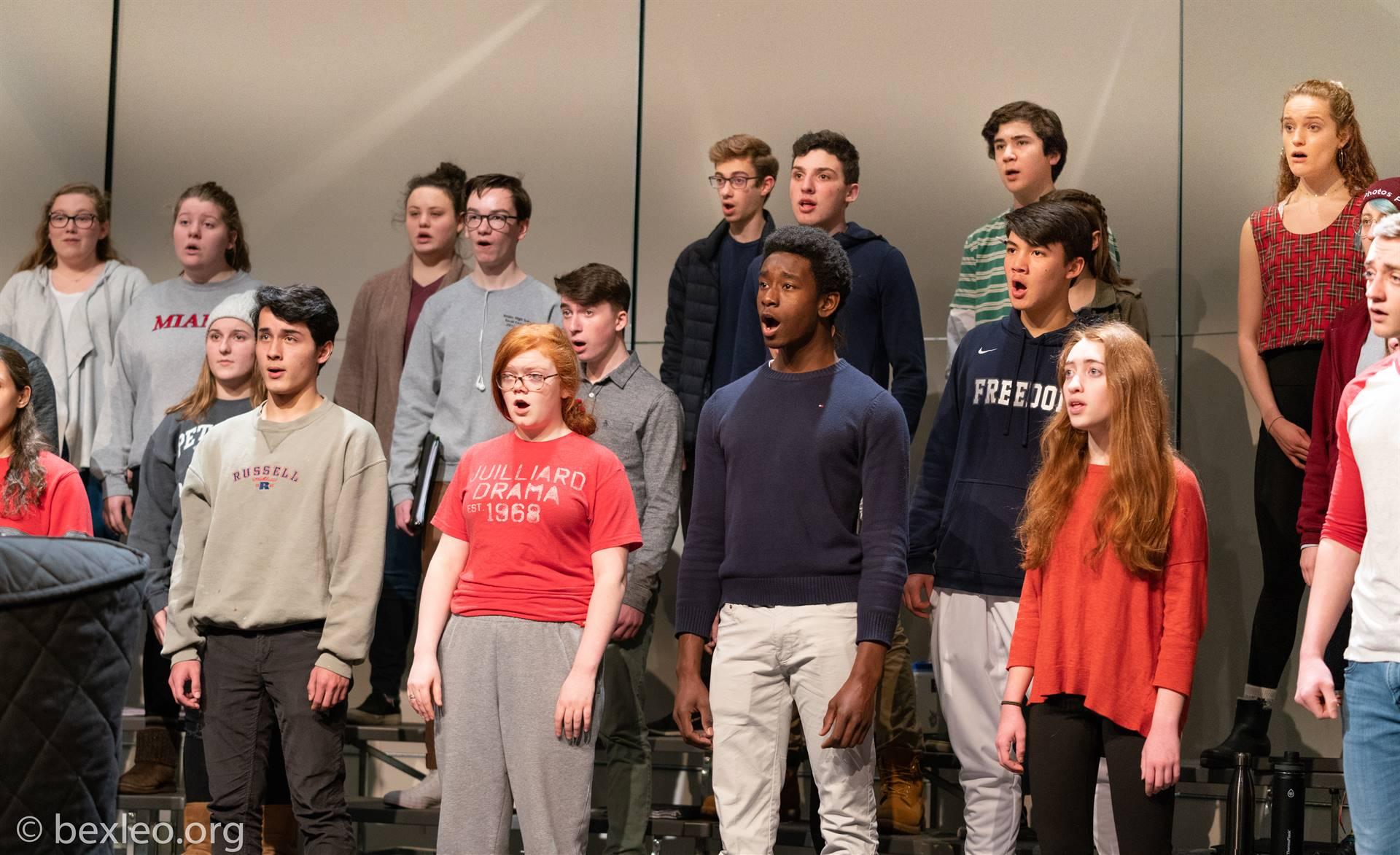 Singers perform at choir rehearsal