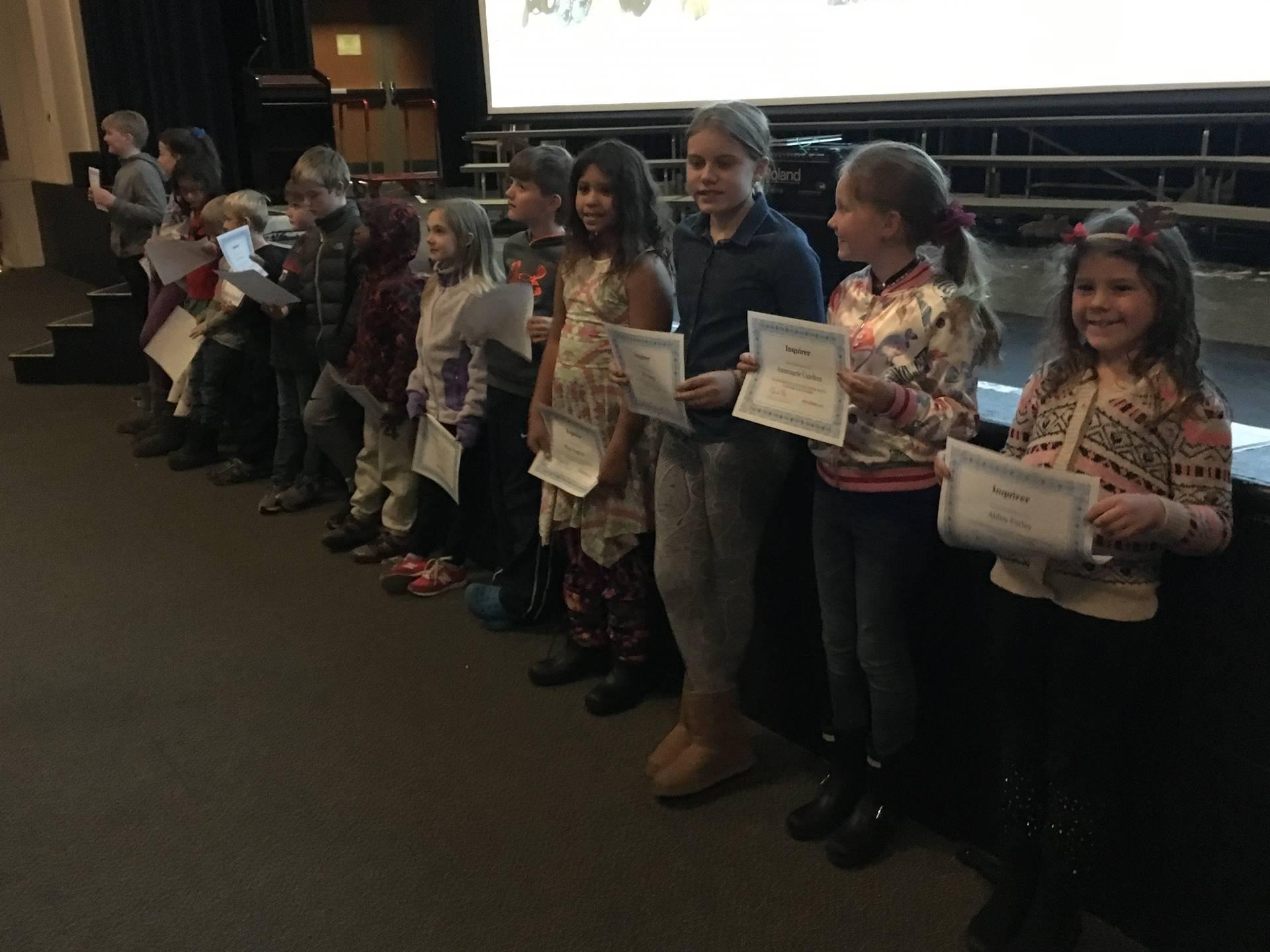 Cassingham Cub November Inquirers