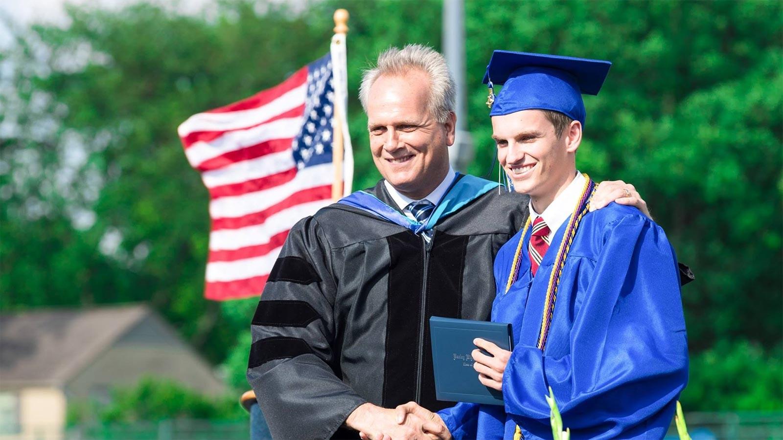 Bexley Graduation Handshake