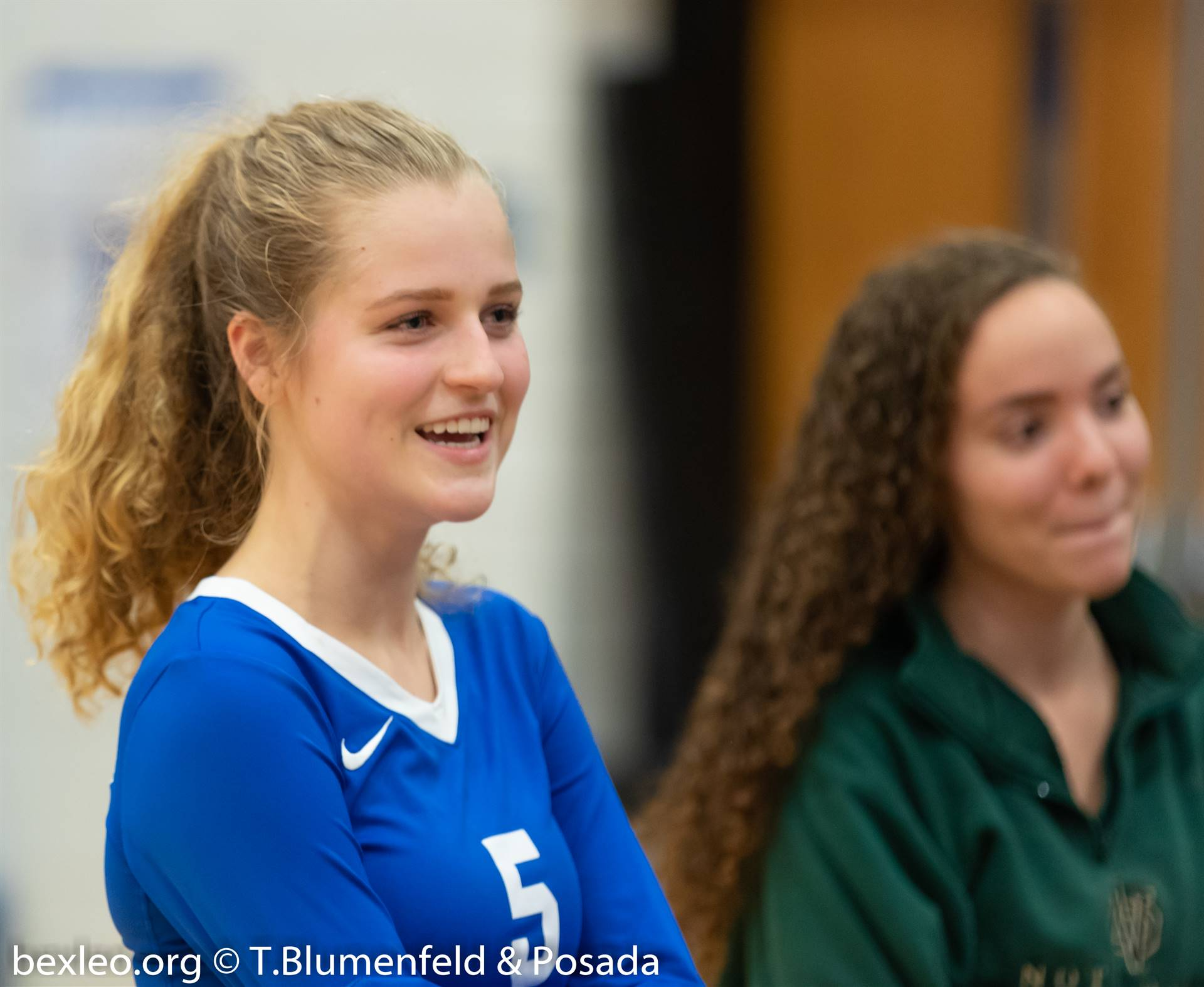 Volleyball player smiling