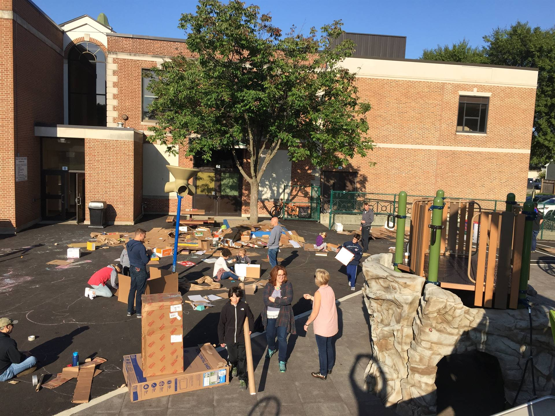 Over 150 Cassingham community members participated in the Cardboard Challenge on the beautiful morni