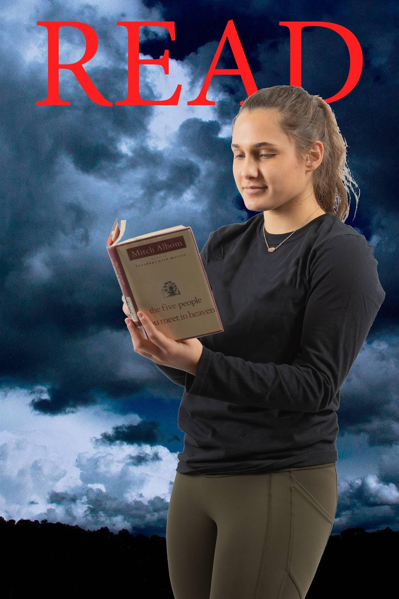 Book Club Co-President Rachel Gold