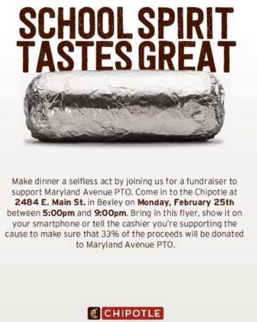 Maryland Chipotle Fundraiser