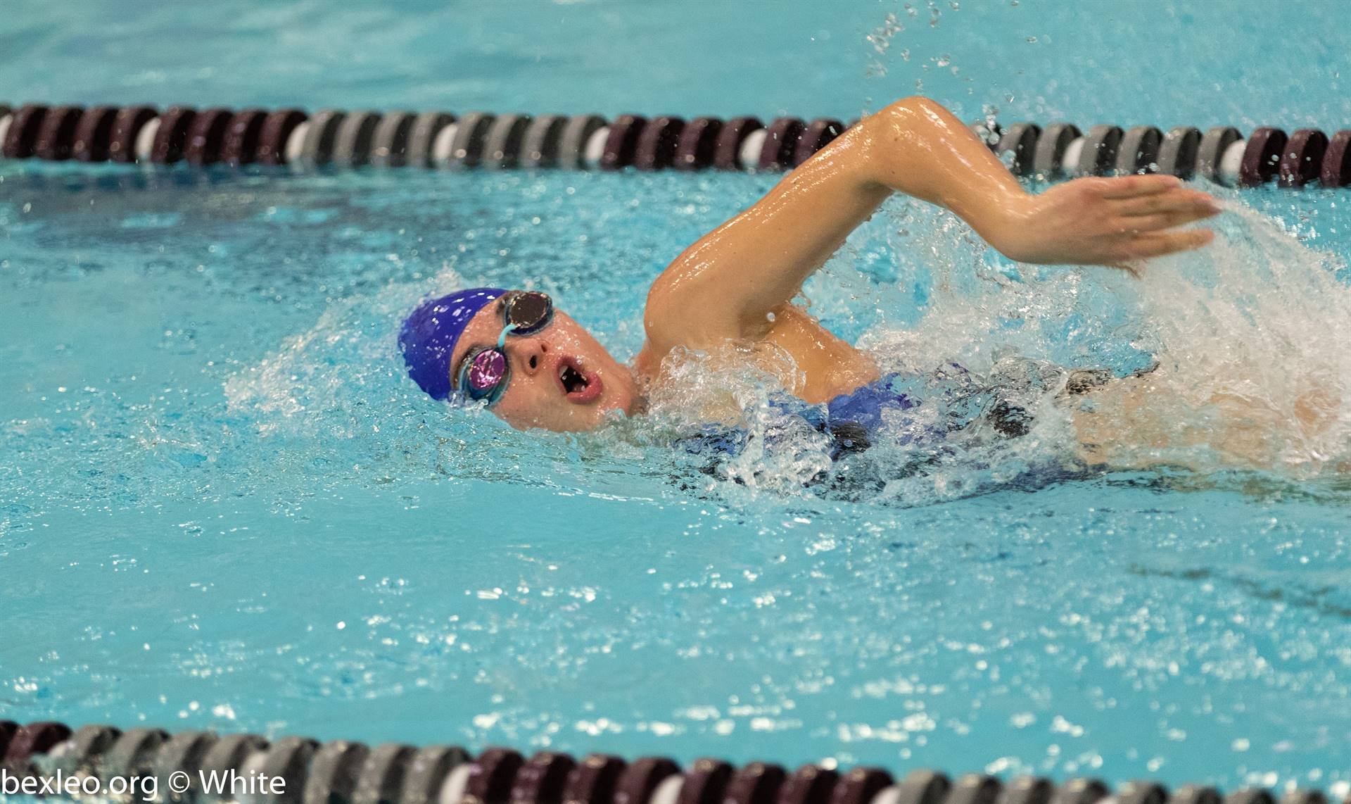 Bexley High School Swimmer races @ Columbus Academy