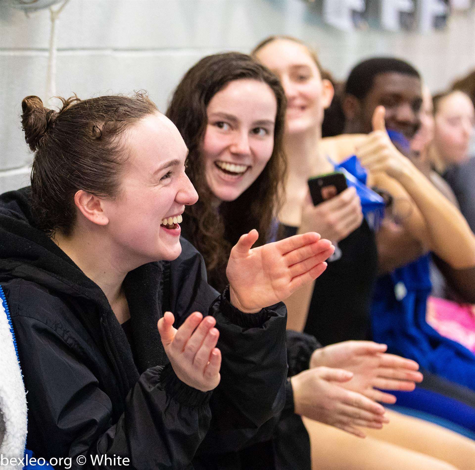 Bexley High School Swimmers cheer on teammates @ Columbus Academy