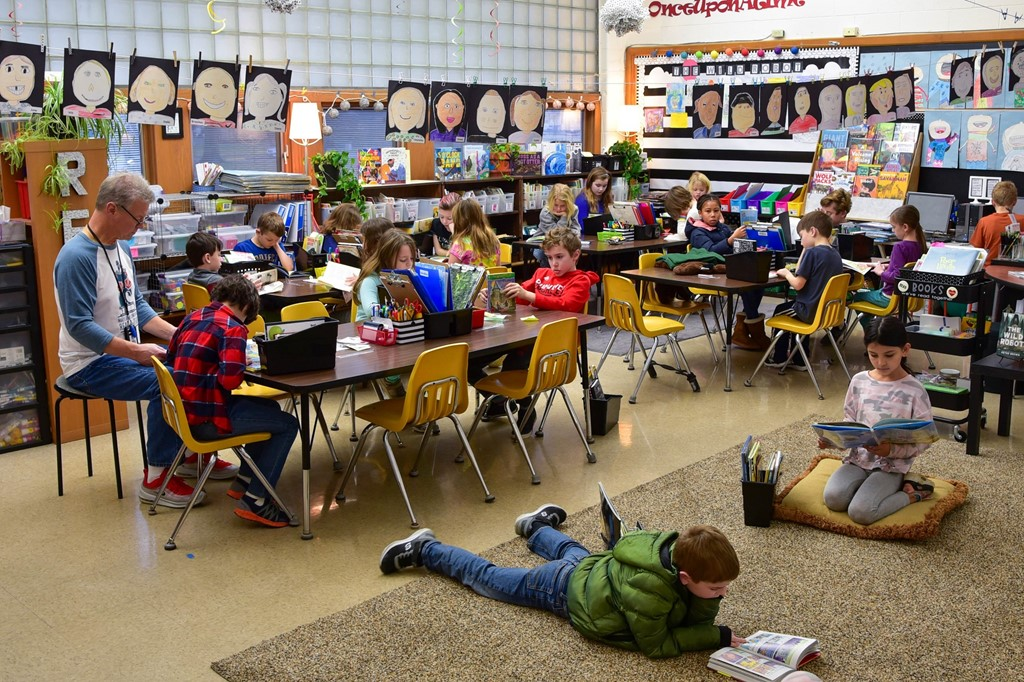 Maryland second-graders reading