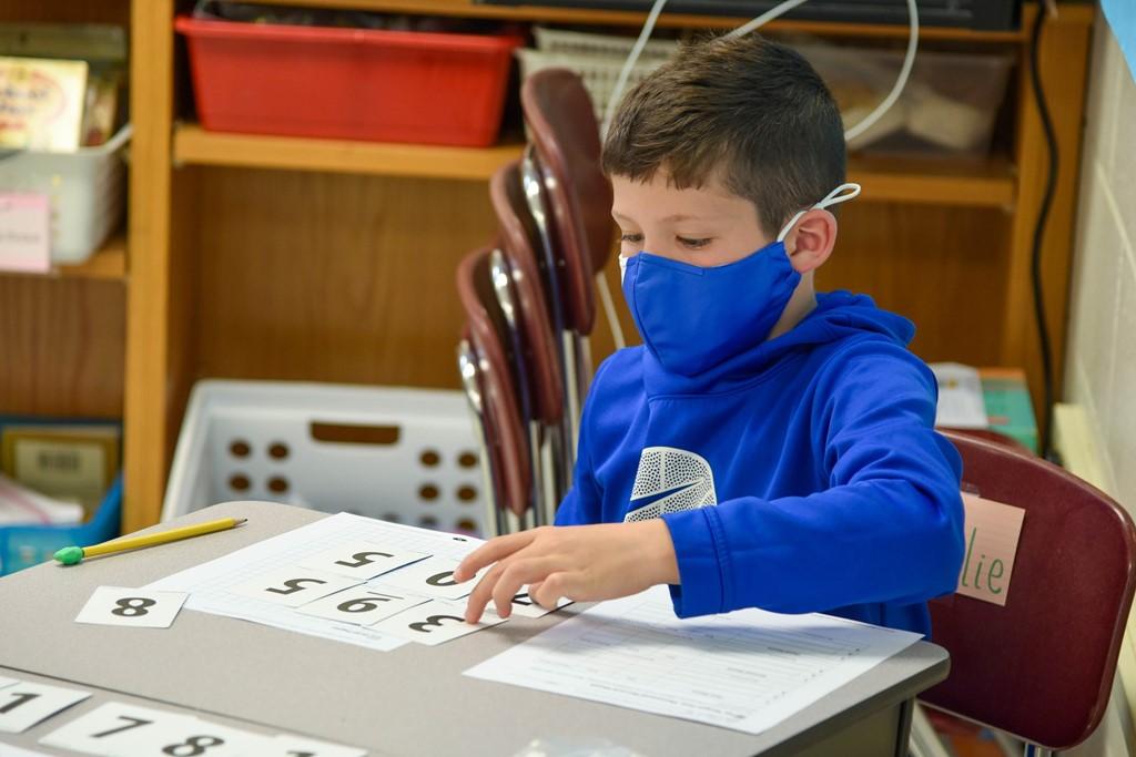 Montrose Elementary student